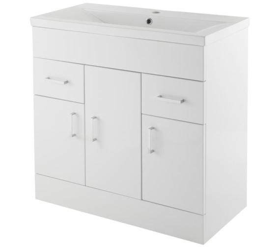 Lauren Eden 800mm 3 Door And 2 Drawer Floor Standing Basin Cabinet