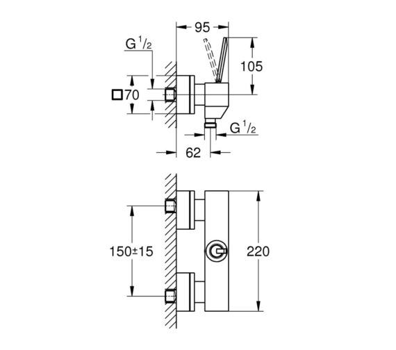 Technical drawing QS-V87029 / 23665000