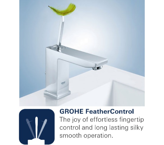Additional image of Grohe Eurocube Joy Single Lever Bath Shower Mixer Tap