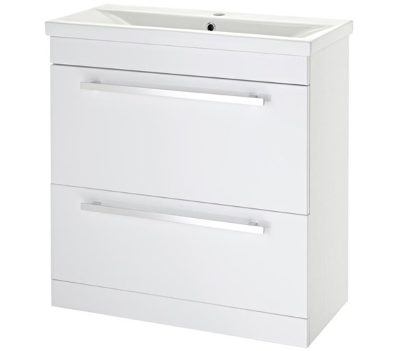 Lauren Eden 800mm Door And Drawer Floor Standing Basin Cabinet