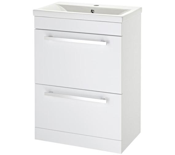 Lauren Eden 600mm Door And Drawer Floor Standing Basin Cabinet