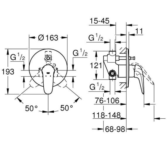 Technical drawing QS-V87040 / 23730003