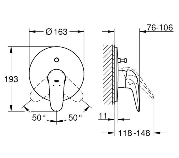 Technical drawing QS-V87042 / 29099003
