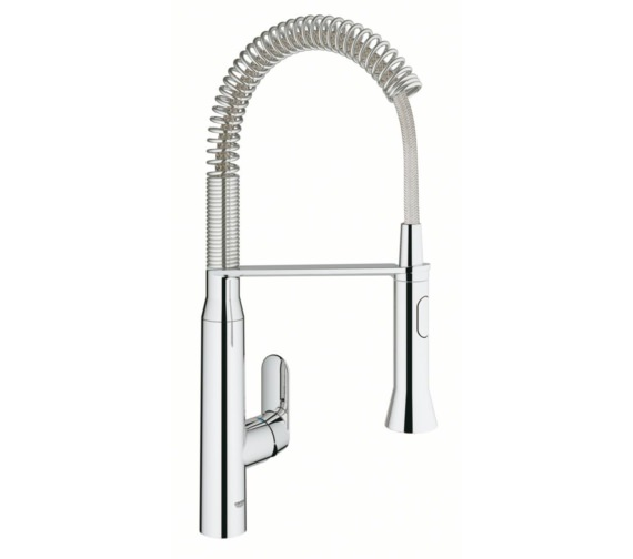 Grohe K7 Foot Control Electronic Chrome Kitchen Sink Mixer Tap
