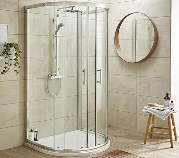 Premier Pacific D Shaped 1050 x 925mm Shower Enclosure