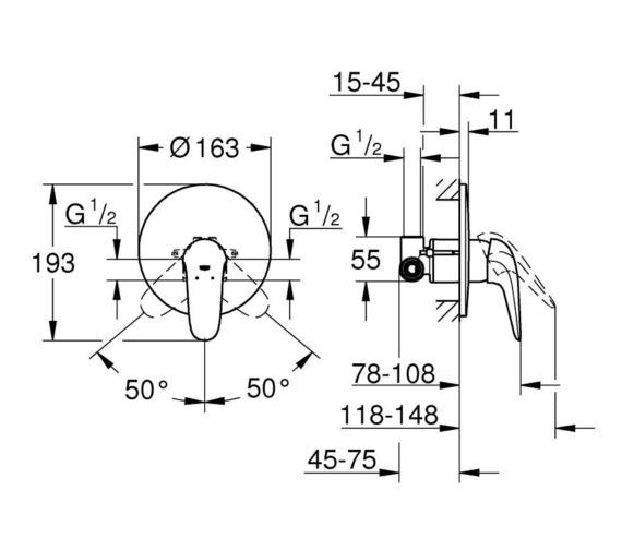 Technical drawing QS-V87038 / 23725003