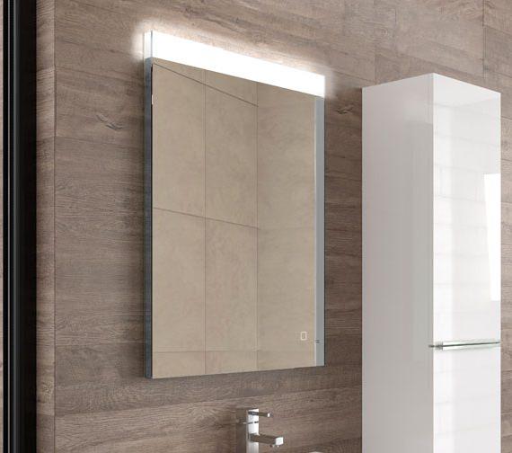 HIB Alpine 60 Portrait Steam Free LED Mirror 600 x 800mm