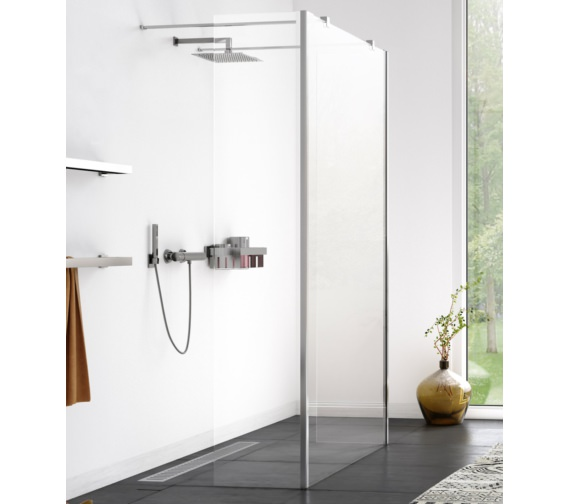 Aqualux Origin 700mm Walk-In Shower Panel With 2 Splash Panel