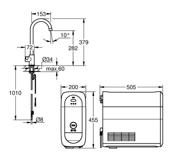 Technical drawing QS-V87105 / 31498000