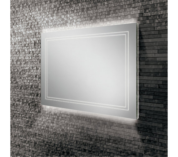 Alternate image of HIB Outline 50 Portrait LED Ambient Mirror 500 x 700mm