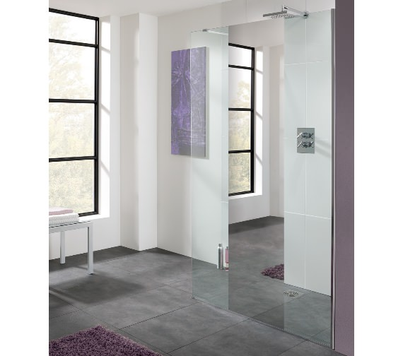 Lakes Cannes Mirror Walk-In Shower Panel 800mm