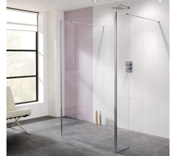 Lakes Coastline Riviera 1400mm Walk In Shower Panel And Bypass Panel