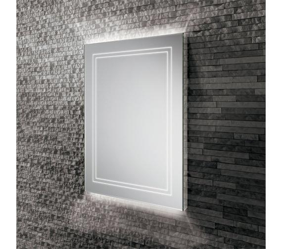 HIB Outline 50 Portrait LED Ambient Mirror 500 x 700mm