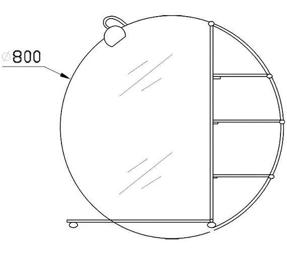 Technical drawing QS-V36012 / LQ310