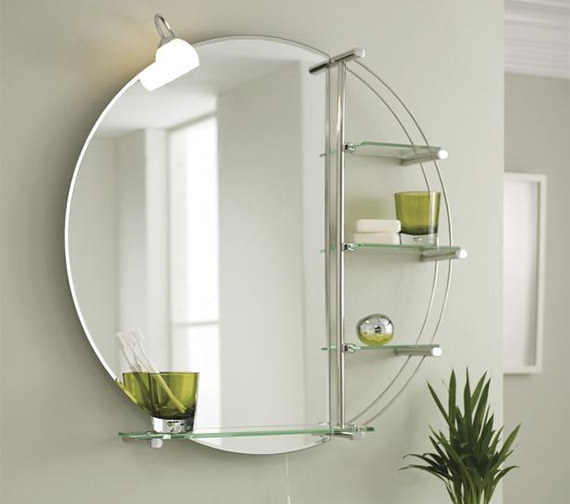 Lauren Magnum Chrome 800mm Round Mirror With Light And