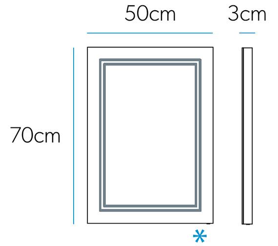 Technical drawing QS-V88015 / 78757000