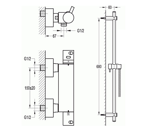 Technical drawing QS-V8476 / LVBVPACK2