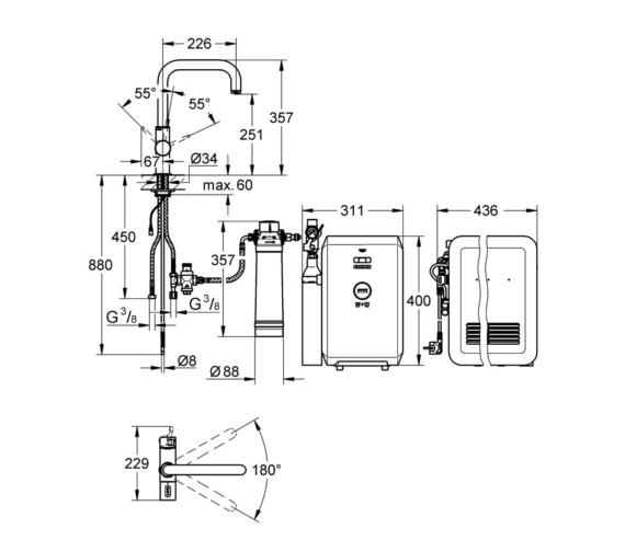 Technical drawing QS-V87113 / 31324001