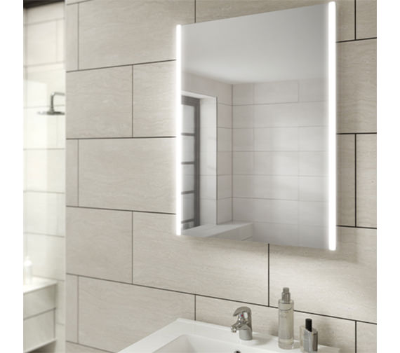 HIB Zircon 50 Portrait LED Bathroom Mirror 500 x 700mm