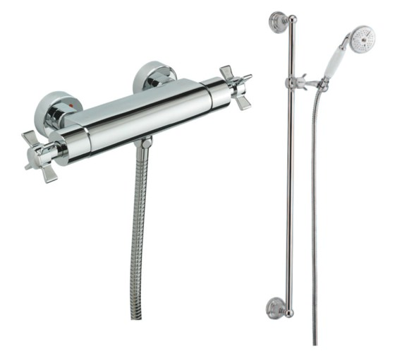 Tre Mercati Imperial Exposed Thermostatic Shower Valve With Slide Rail Kit