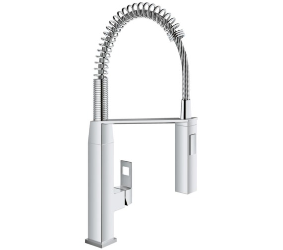 Grohe Eurocube Half Inch Deck Mounted Chrome Kitchen Sink Mixer Tap