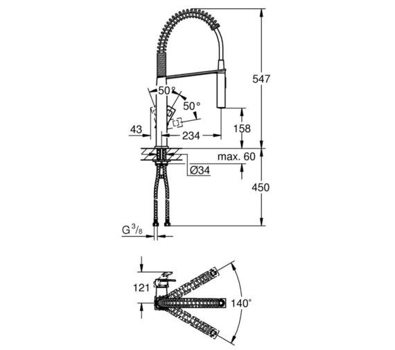 Technical drawing QS-V87102 / 31395000