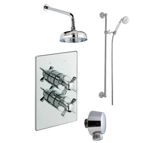 Tre Mercati Traditional Concealed 2 Way Diverter Shower Valve With Shower Set