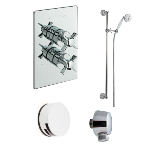Tre Mercati Imperial Concealed 2 Way Diverter Shower Valve With Shower Set