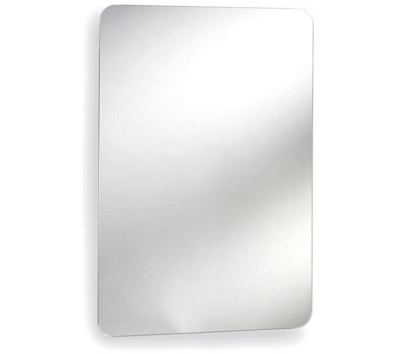 Lauren Image 460mm Stainless Steel Mirrored Cabinet With Hinged Door