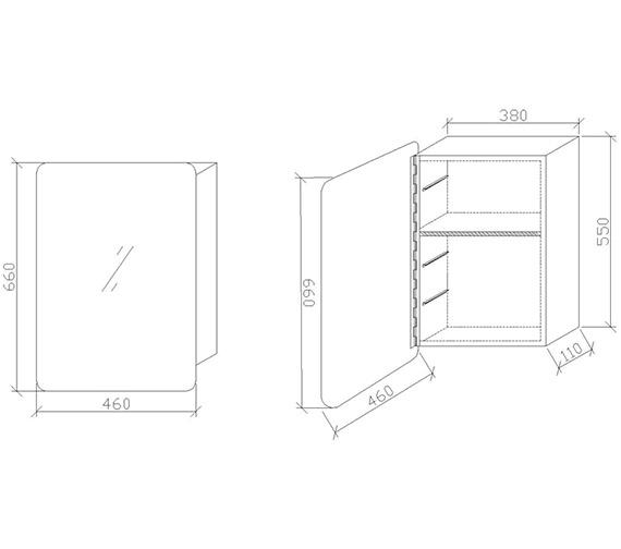 Technical drawing QS-V60347 / LQ382