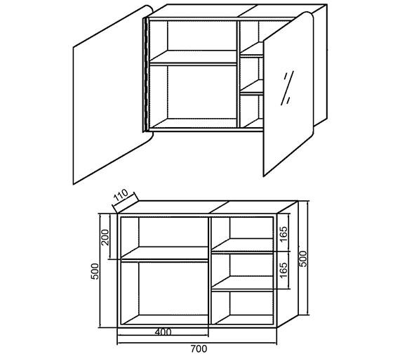 Technical drawing QS-V60348 / LQ383