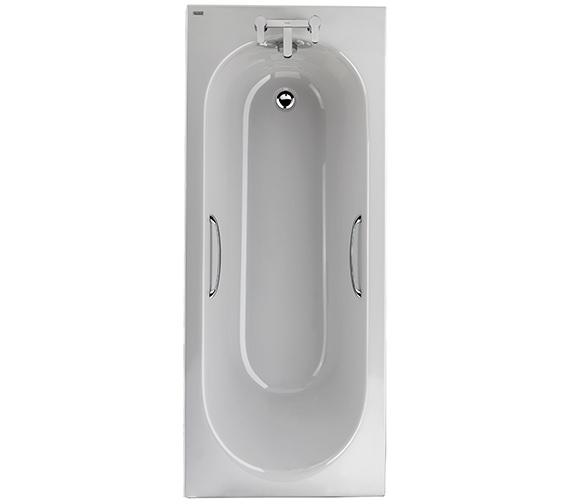 Twyford Opal 1700 x 700mm Plain 2 Tap Hole 130 Litres Acrylic Bath With Grips