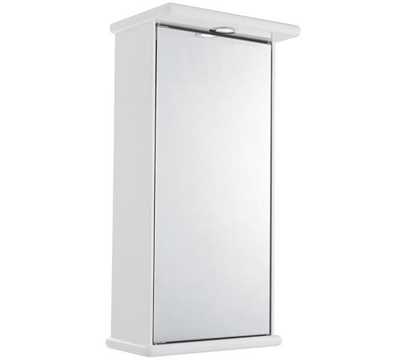 Lauren Niche 400mm Single Door Mirrored Cabinet With Light