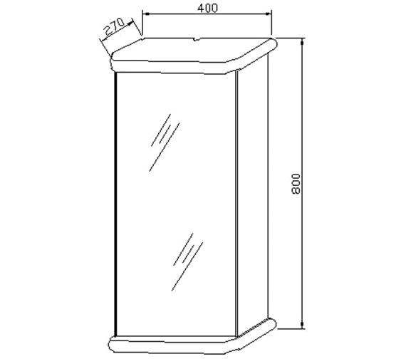 Technical drawing QS-V60349 / LQ386