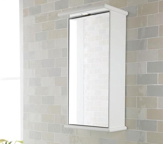 Additional image of Lauren Niche 400mm Single Door Mirrored Cabinet With Light