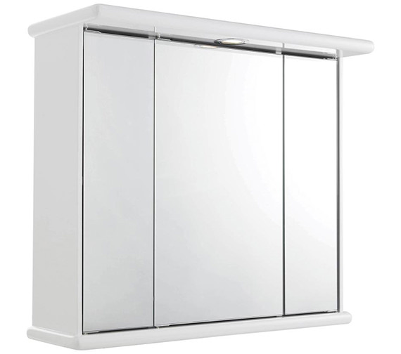 Lauren Cryptic 700mm Triple Door Mirrored Cabinet With Light