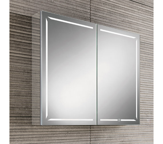 HIB Groove 60 LED Demisting 600mm Wide Bluetooth Mirror Cabinet