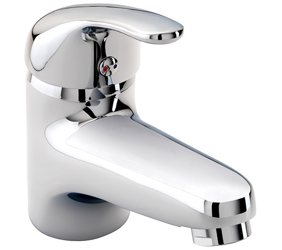 Twyford X52 Low Flow Monobloc Basin Mixer Tap With Click Clack Waste