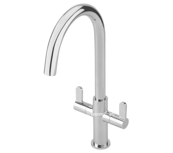Tre Mercati Emilia 2 Lever Mono Kitchen Sink Mixer Tap
