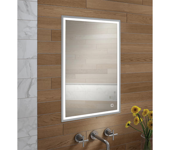 recessed mirrored bathroom cabinets hib vanquish 50 led demisting recessed mirror cabinet 530 25125