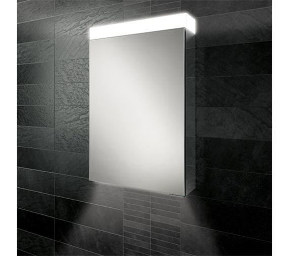 HIB Apex 50 Single Door LED Aluminium Mirror Cabinet 500 x 750mm