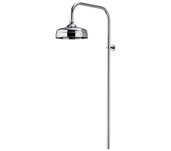 Aqualisa Aquatique Chrome Exposed Rigid Riser With 8Inch Drencher Head
