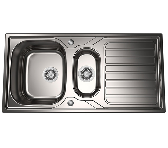 1810 Company Veloreduo 100i 1.5 Bowl Kitchen Sink And Drainer