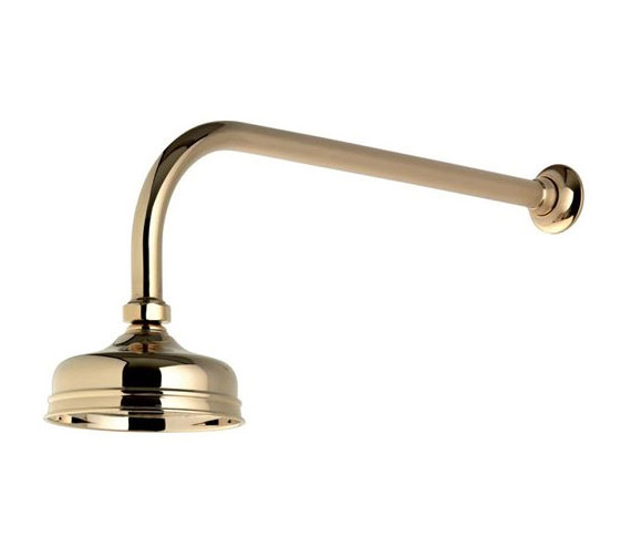 Aqualisa Aquatique Gold 5Inch Drencher Fixed Head And Wall Arm