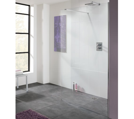 Lakes Coastline Cannes 10mm Walk In Shower Screen 800mm