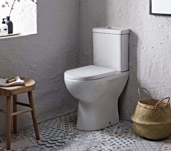 Tavistock Micra Comfort Height Back To Wall WC With Soft Close Seat