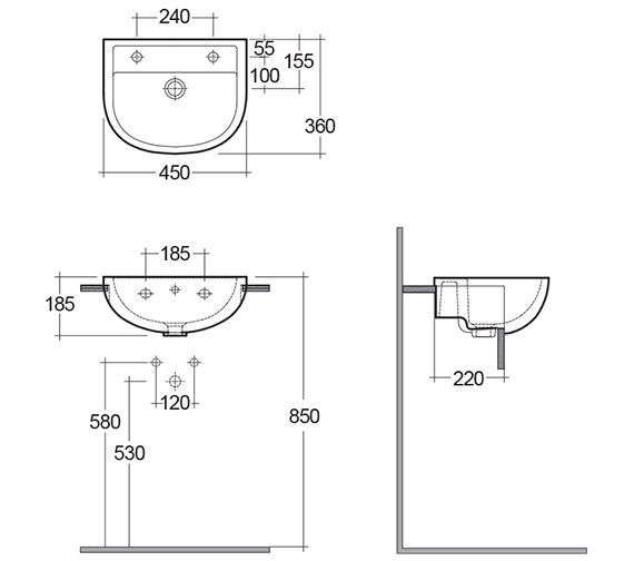 Technical drawing QS-V36332 / COM45SR1LH