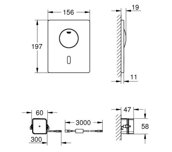 Technical drawing QS-V87139 / 37419000