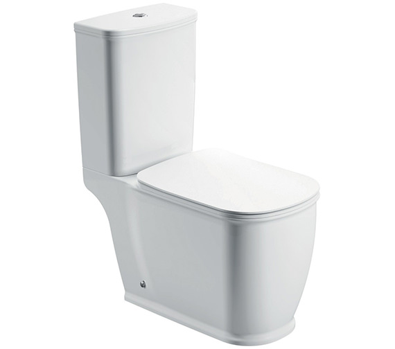 Pura Imex Liberty Close Coupled WC Bowl With Cistern And Seat 680mm