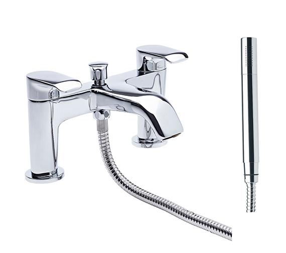 Tavistock Tier Deck Mounted Bath Shower Mixer Tap With Handset